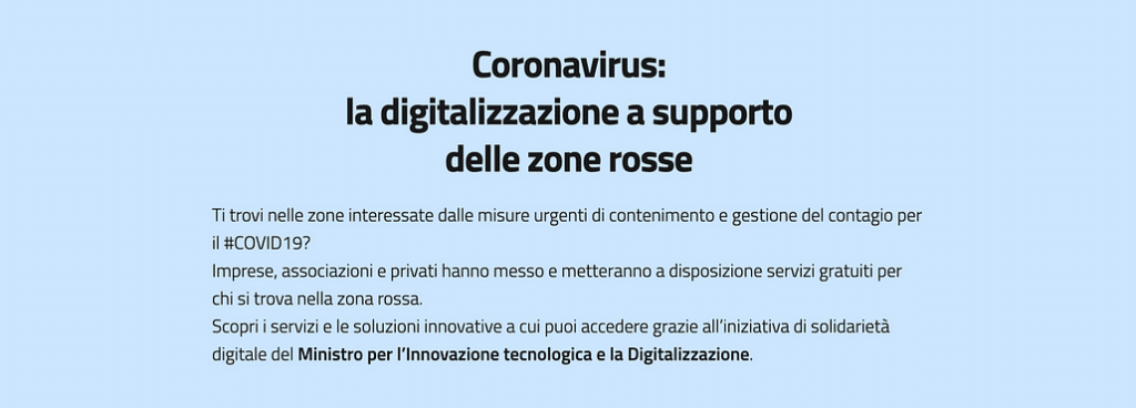 Awhy a supporto delle zone rosse